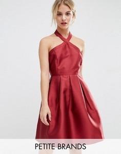 Атласное платье‑халтер Vero Moda Petite - Красный