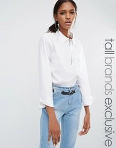 Рубашка на молнии Daisy Street Tall - Белый