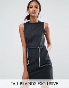 Джинсовое платье мини Daisy Street Tall - Черный