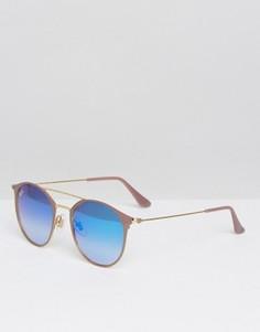 Круглые солнцезащитные очки с двойной переносицей Ray-Ban - Черный