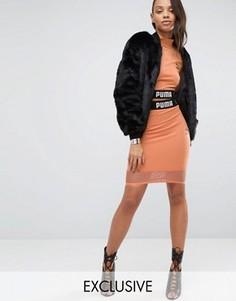 Укороченная юбка с сеточкой Puma эксклюзивно для ASOS - Розовый