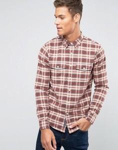 Оксфордская рубашка на пуговицах в шотландскую клетку Abercrombie & Fitch - Красный