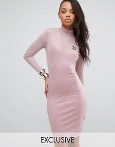 Облегающее платье с сеточкой Puma эксклюзивно для ASOS - Розовый