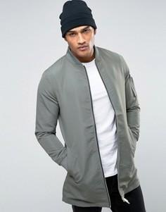 Удлиненная куртка Brave Soul - Зеленый