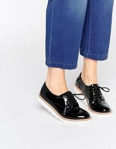 Туфли на плоской подошве со шнуровкой Kurt Geiger Gecko - Черный
