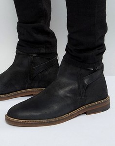 Черные замшевые ботинки челси с эластичными вставками ASOS - Черный