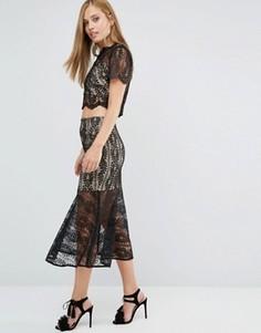Кружевная юбка Keepsake Uptown Co-ord - Черный