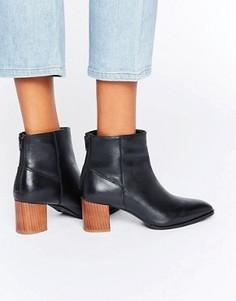 Ботинки на деревянном каблуке Park Lane - Черный