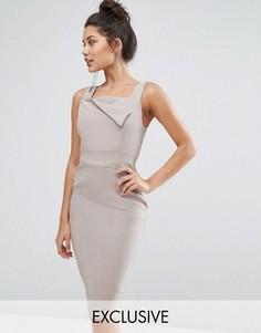Платье-футляр со складками в стиле оригами Vesper - Рыжий