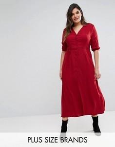 Чайное платье макси с рукавами 3/4 Alice & You - Красный