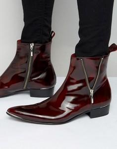 Кожаные ботинки на молнии Jeffery West Adam - Красный