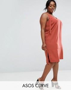 Платье-комбинация ASOS CURVE - Оранжевый