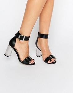 Сандалии на прозрачном каблуке ASOS HOOLA - Черный