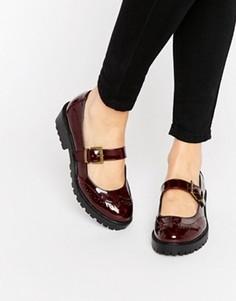 Туфли на плоской подошве ASOS MENDOZA - Красный