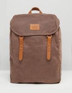Коричневый парусиновый рюкзак ASOS - Коричневый