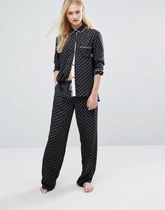 Атласная пижама DKNY - Черный