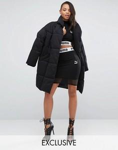 Укороченная юбка с сеточкой Puma эксклюзивно для ASOS - Черный