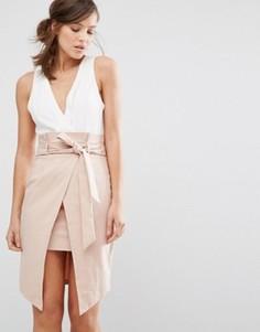 Платье 2 в 1 с запахом и завязкой на талии Parallel Lines - Мульти