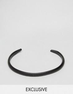 Черный фактурный браслет-манжета DesignB - Черный