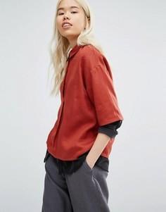 Oversize-рубашка с планкой до середины груди Native Youth - Оранжевый