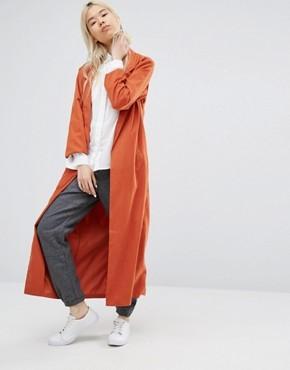 Легкое длинное пальто Native Youth - Оранжевый