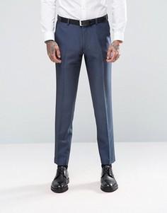 Темно-синие зауженные брюки ASOS - Темно-синий