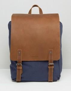 Темно-синий кожаный рюкзак Forbes & Lewis Devon - Синий
