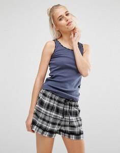 Подарочный пижамный комплект с шортами DKNY - Серый