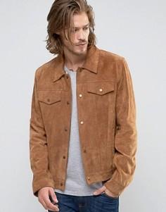 Светло-коричневая замшевая куртка в стиле вестерн ASOS - Рыжий