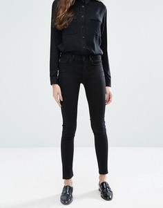 Супероблегающие джинсы с классической талией Jack Wills Fernham - Черный