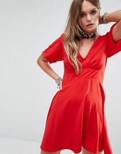 Красное платье Motel - Красный