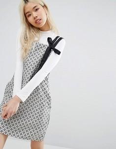 Цельнокройное платье с принтом STYLENANDA - Мульти