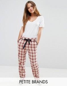 Пижамные брюки в клетку Vero Moda Petite - Мульти
