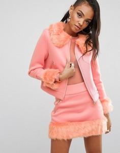 Комбинируемая куртка в стиле 90-х из комплекта Shade London - Розовый