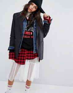 Джинсовая куртка со вставками STYLENANDA - Мульти