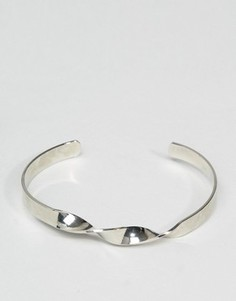 Серебристый браслет с перекрученной отделкой ASOS - Серебряный