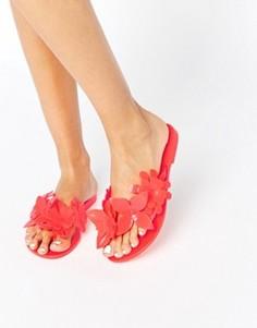 Шлепанцы с цветочной отделкой Melissa - Розовый