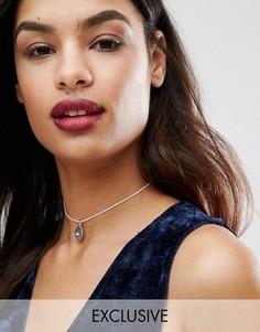 Изящное ожерелье-чокер DesignB London - Серебряный
