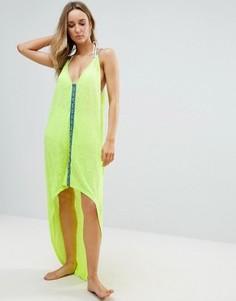 Асимметричное пляжное платье Pitusa - Желтый