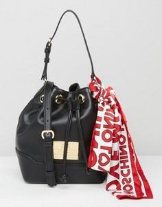 Сумка-мешочек с фирменным платком Love Moschino - Черный