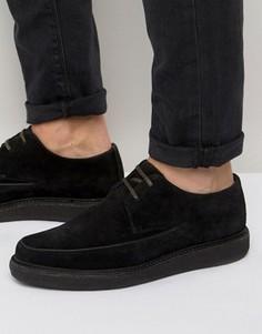Замшевые туфли AllSaints - Черный