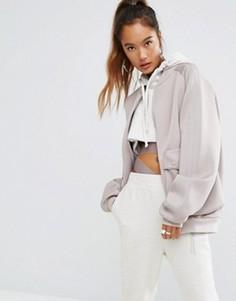 Бомбер в стиле oversize с карманами по бокам adidas Originals - Бежевый