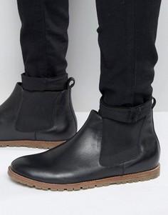 Черные кожаные ботинки челси Frank Wright - Черный