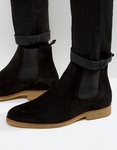 Замшевые ботинки челси с каучуковой подошвой Zign - Черный