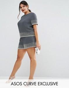 Комбинируемые шорты с декоративной отделкой ASOS CURVE - Черный