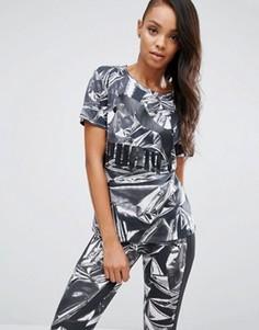 Oversize-футболка с графическим принтом Puma - Серый