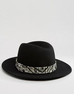 Фетровая шляпа с высокой тульей и лентой тай-дай ASOS - Черный