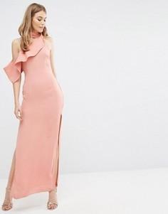 Платье макси с отделкой на горловине Keepsake Laika - Розовый