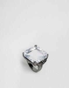 Кольцо с квадратным камнем DesignB London - Серебряный