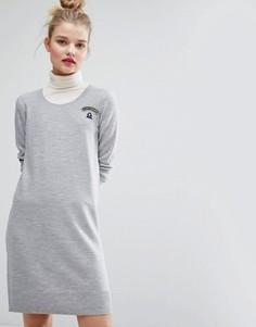 Платье с принтом Je Suis Parisienne Sonia By Sonia Rykiel - Серый